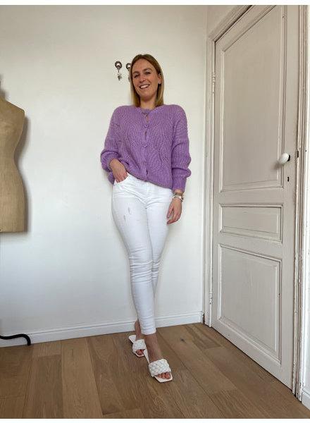 Belle knit paars