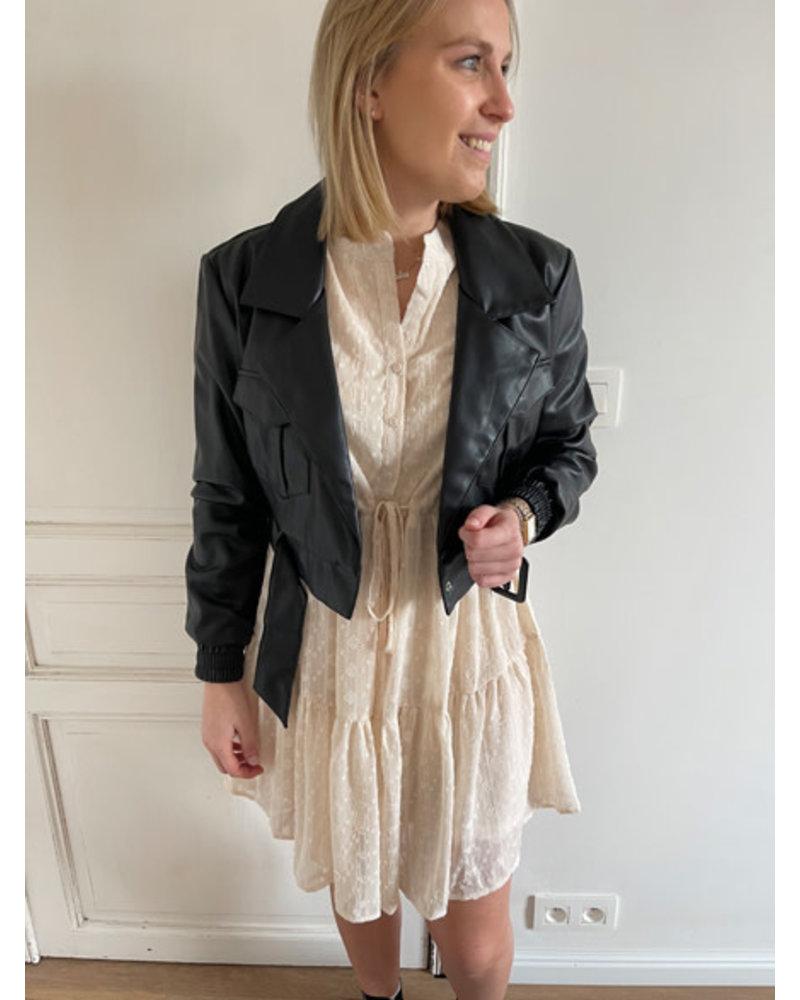 NA-KD cropped PU jacket