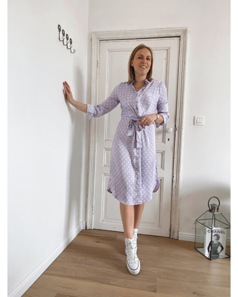 Abby dotted dress lilac