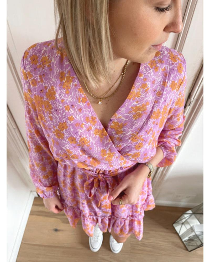 Abby dress purple/orange