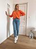 Rosie summer knit orange