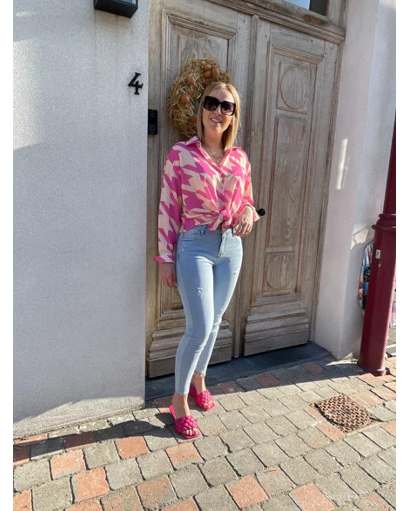 Liv pied-de-poule blouse