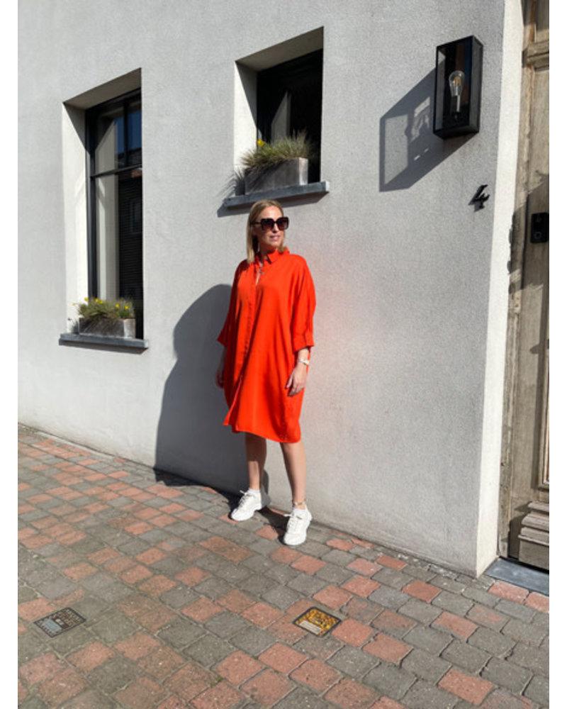 Lizzie oversized dress orange
