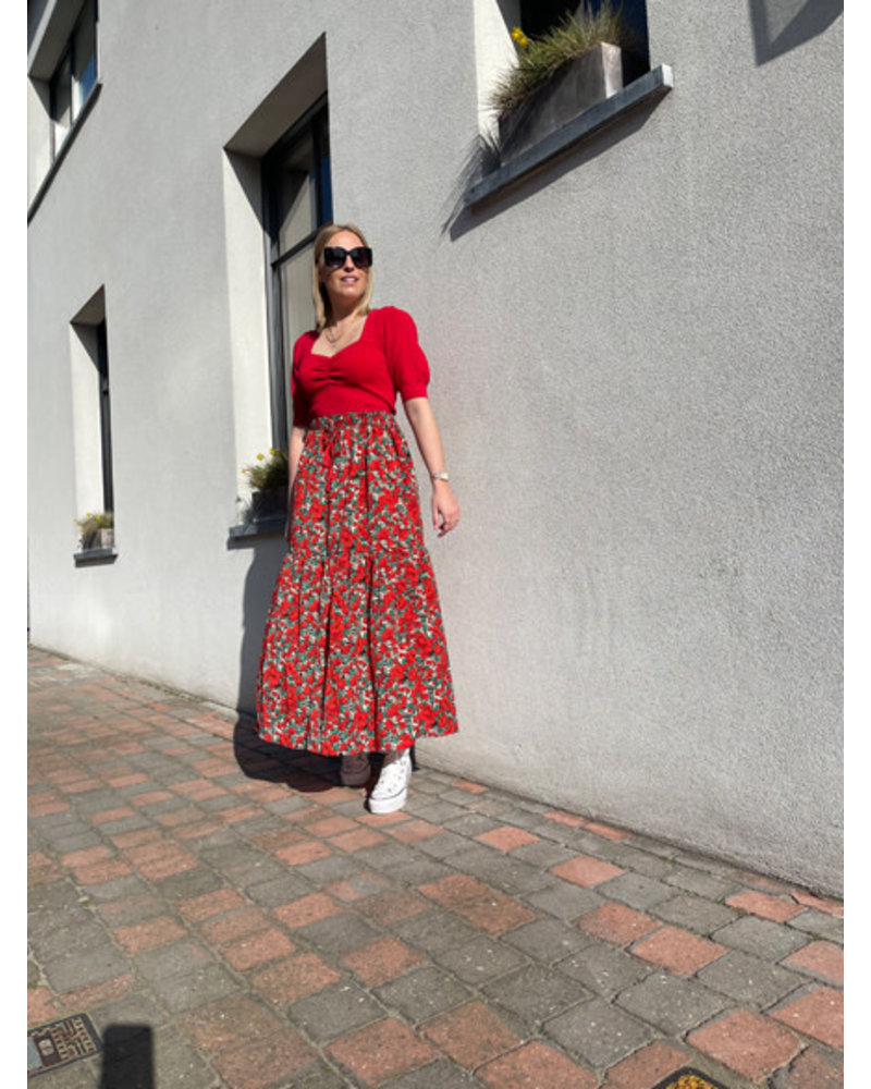 Lizzie skirt red