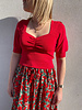 Lizzie top red
