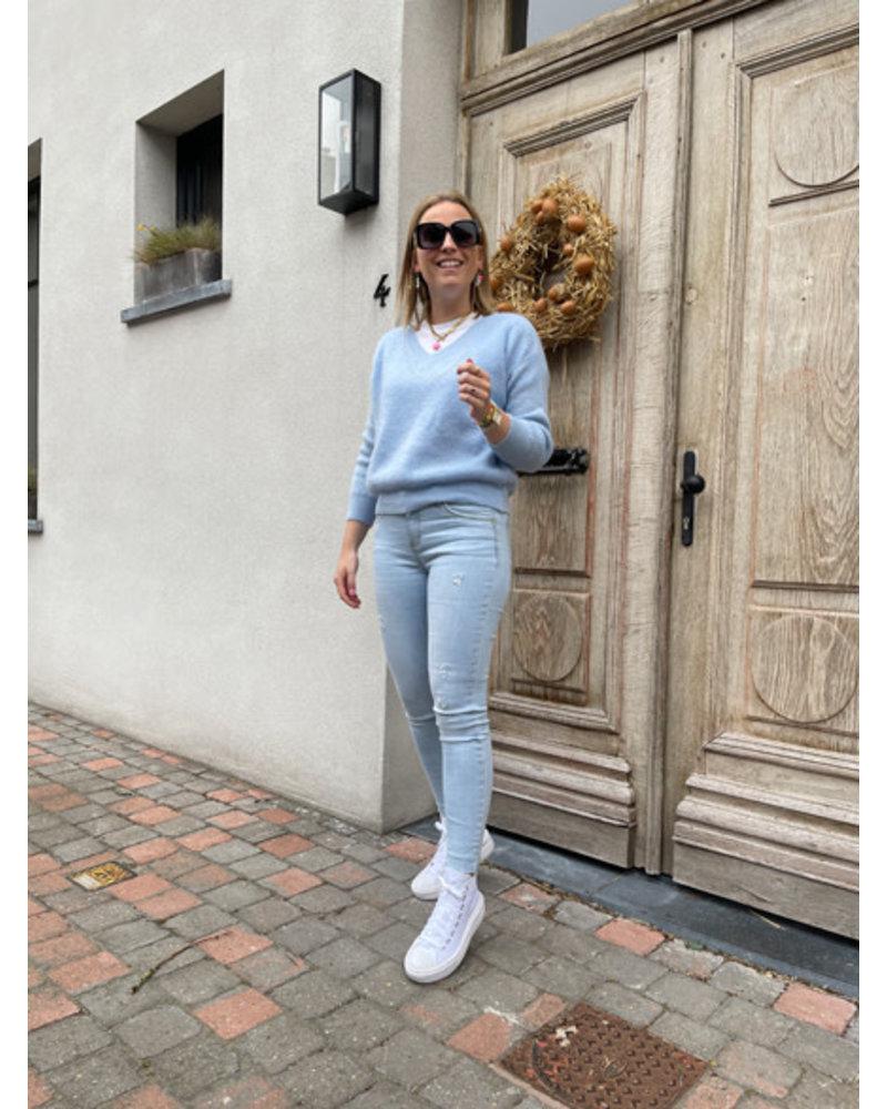Rosie summer knit light blue