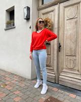 Rosie summer knit dark orange/red