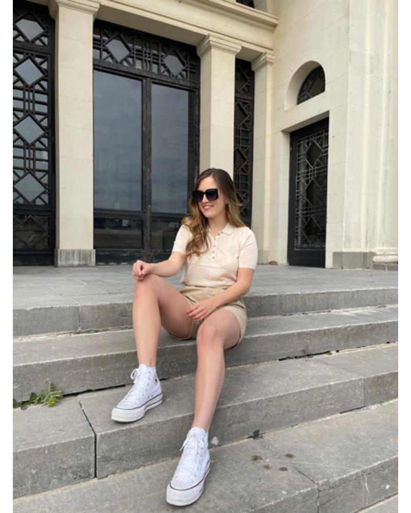Rachel polo Tee beige