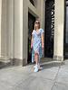 Rachel flowered dress blue