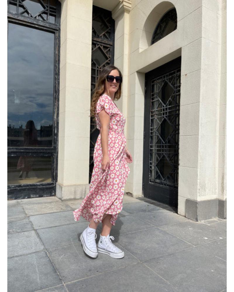 Rachel flowered dress pink