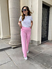 Honey flared trousers pink