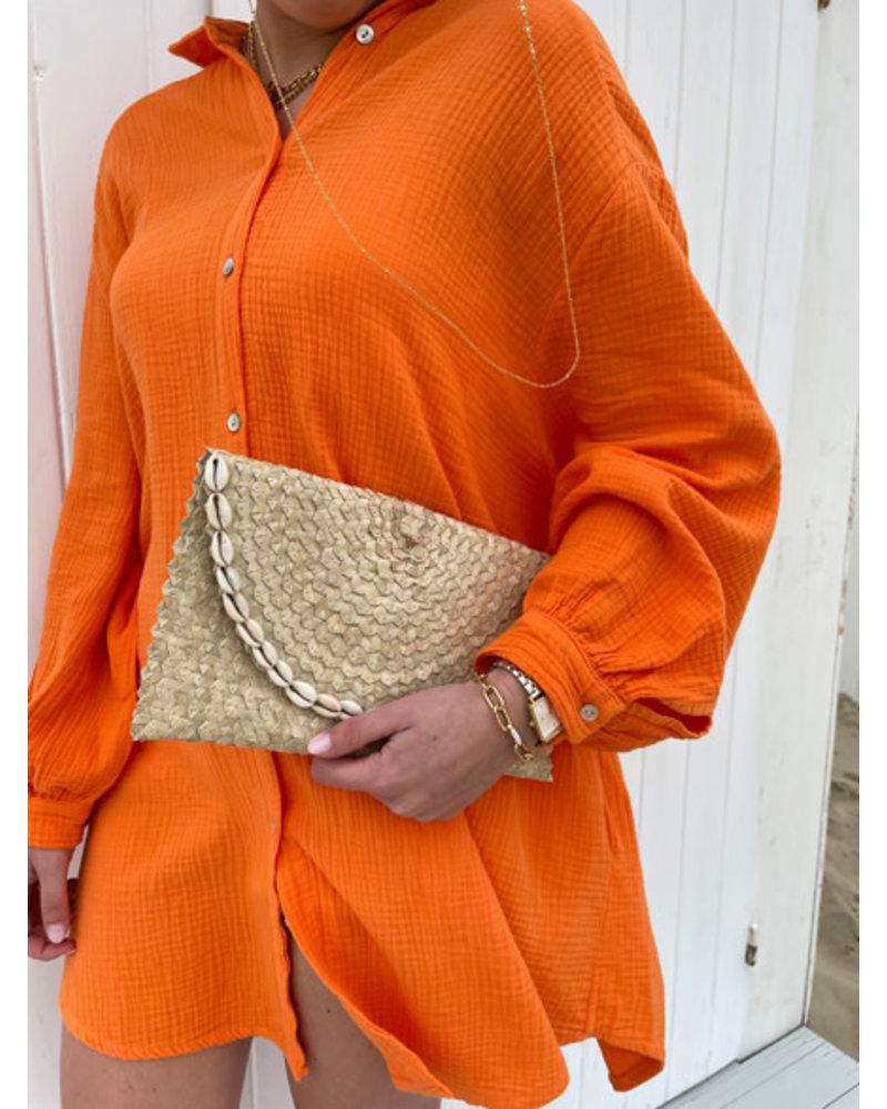 Tetra dress orange