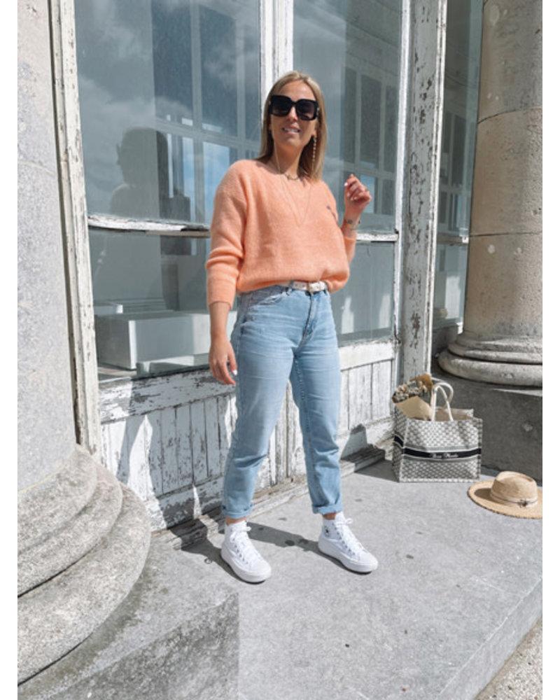 Rosie summer knit soft orange