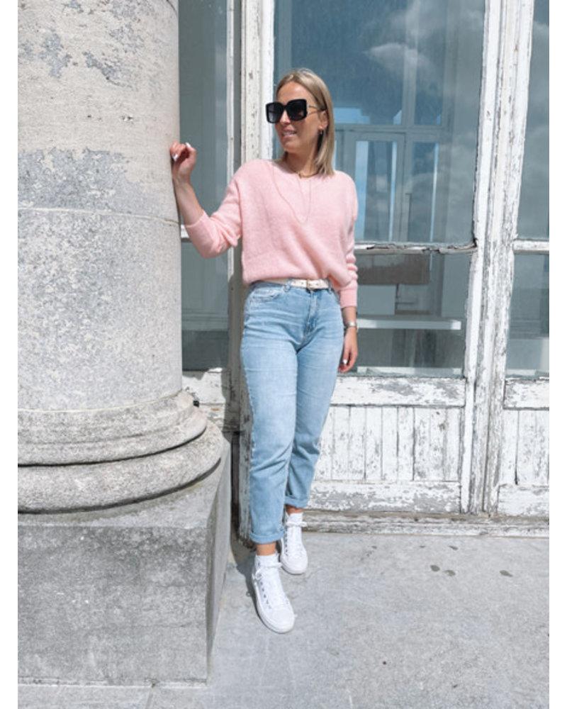 Rosie summer knit blush
