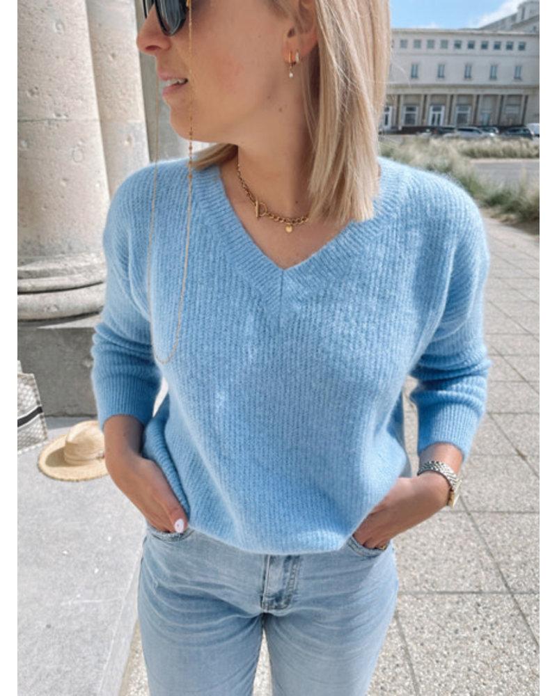 Rosie summer knit denim