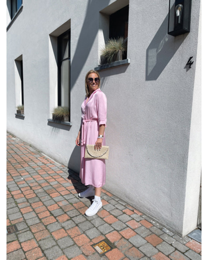 Bess silk dress pink