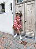 Bess flowered dress pink/red