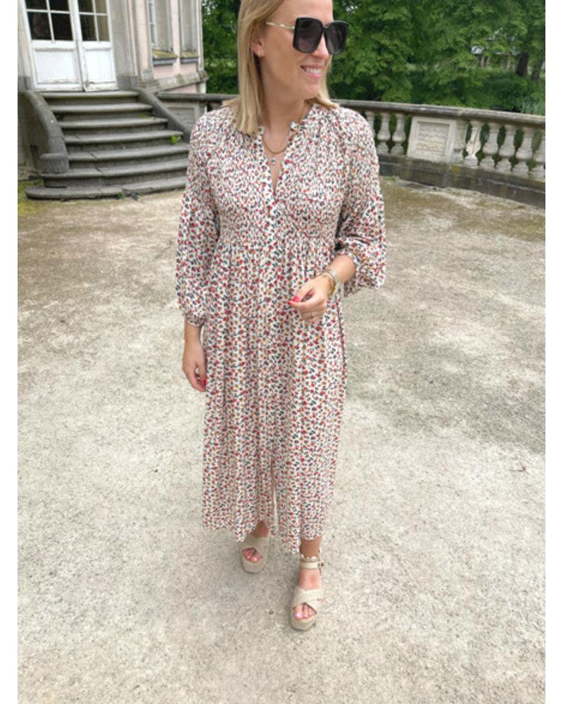 Lea flowered  maxi dress