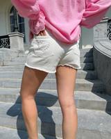 Malibu denim shorts white