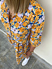 Bess flowered dress orange