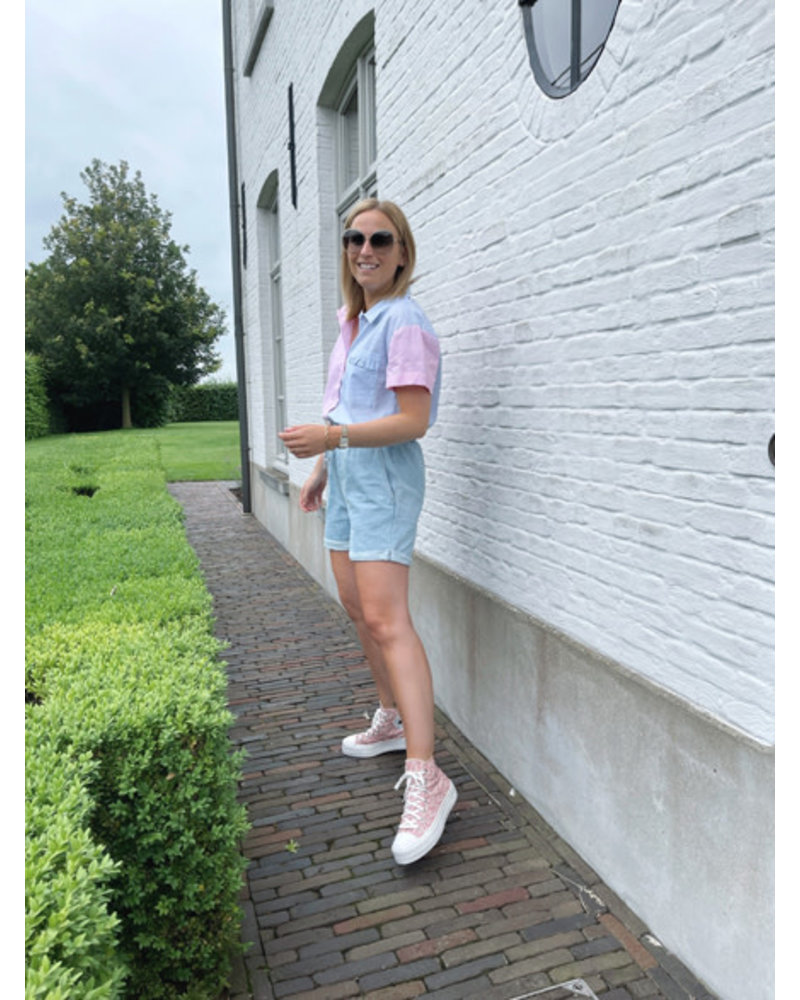 Venice blouse pink/blue
