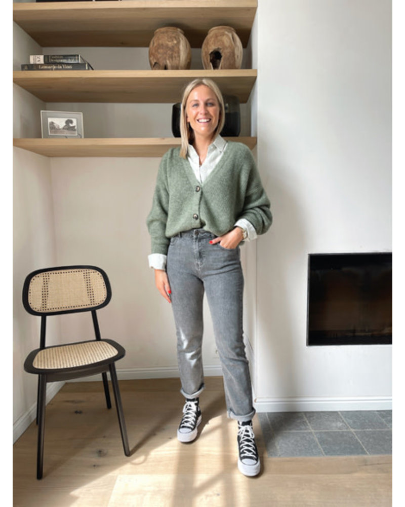Lore blouse tea green