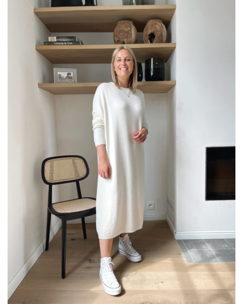 Axelle knitted dress cream