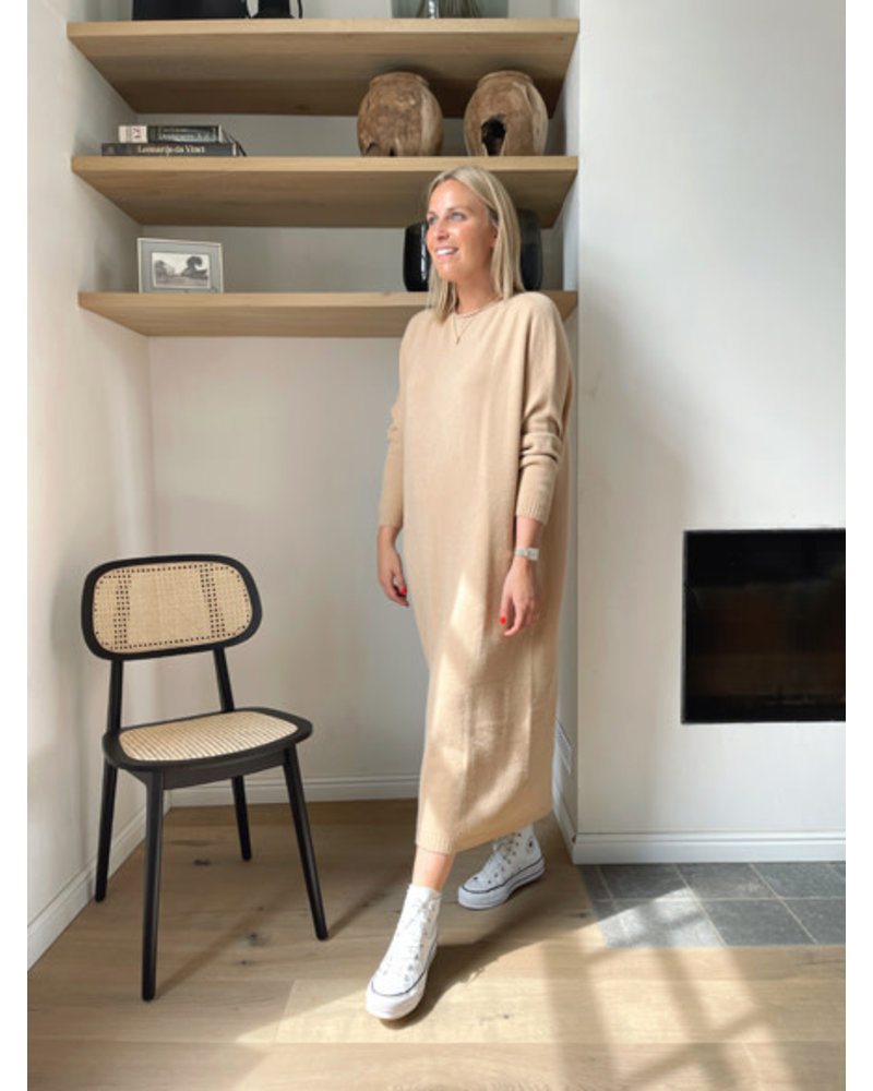 Axelle knitted dress camel