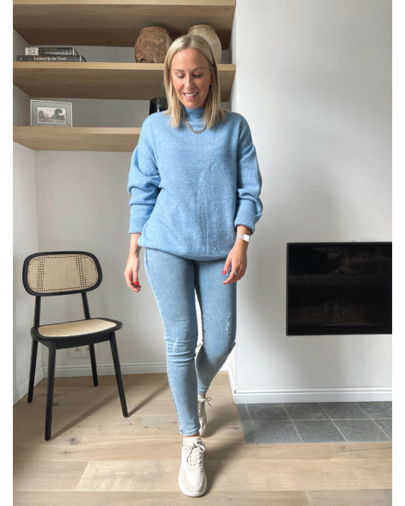 NA-KD knitted sweater blue