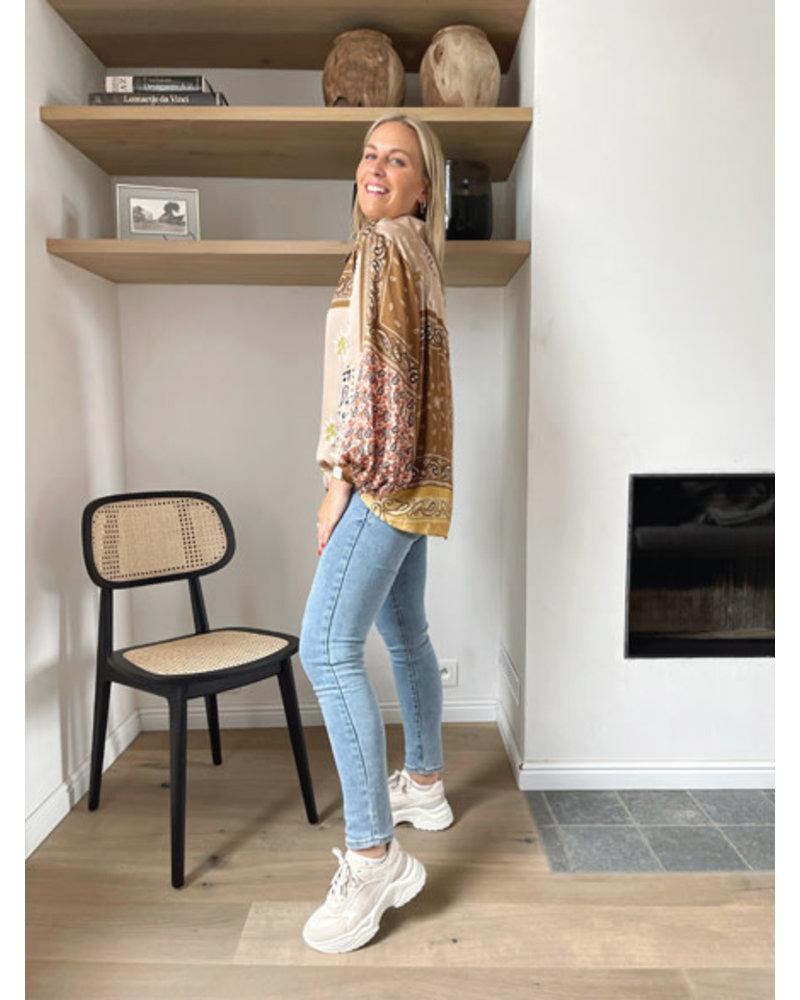 Fauve blouse camel