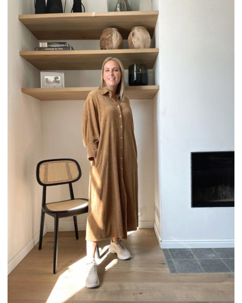 Terry brown dress