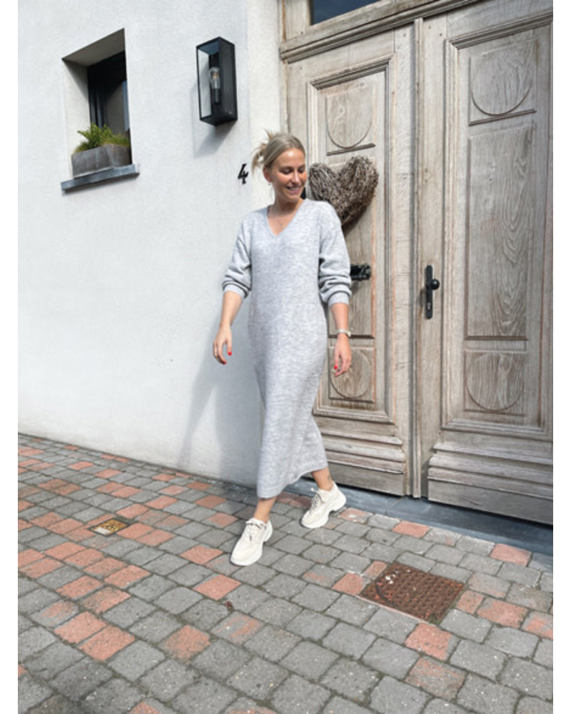 Ibe knitted dress grey