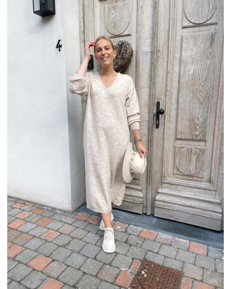 Ibe knitted dress beige