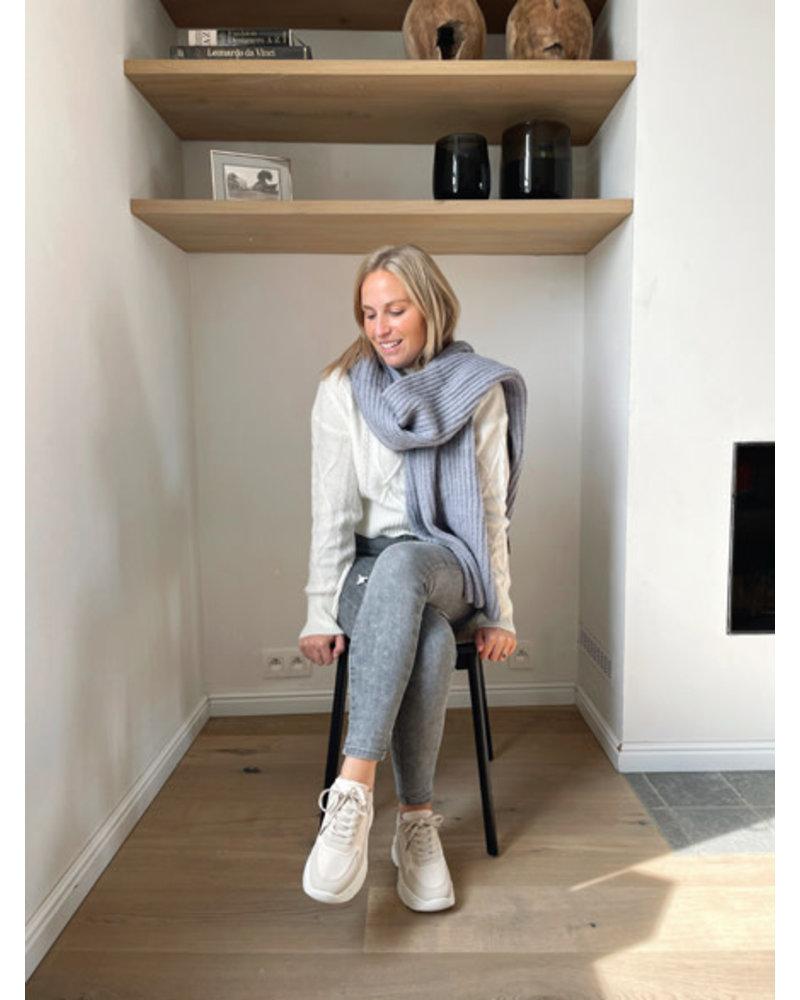 Winter sjaal grijs