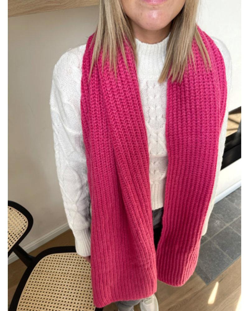 Winter sjaal roze