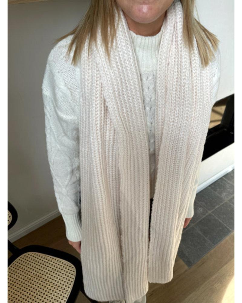 Winter sjaal crème