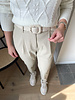 PU pants beige