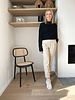 cable knitted sweater black