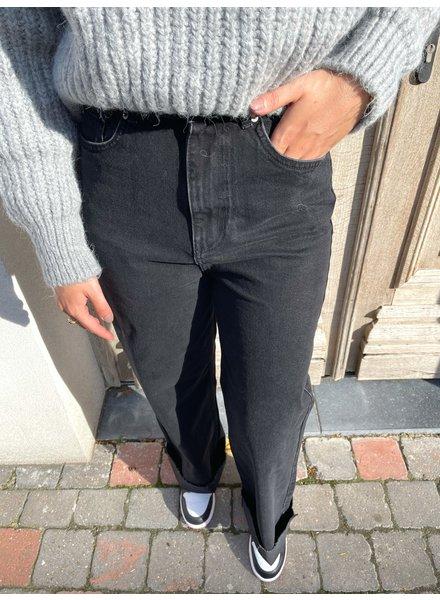 Wide leg denim black