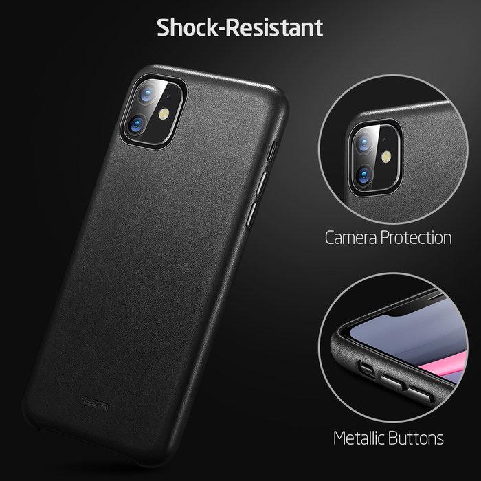ESR Telefoonhoesje - Apple iPhone 11 - Metro Leather - Zwart