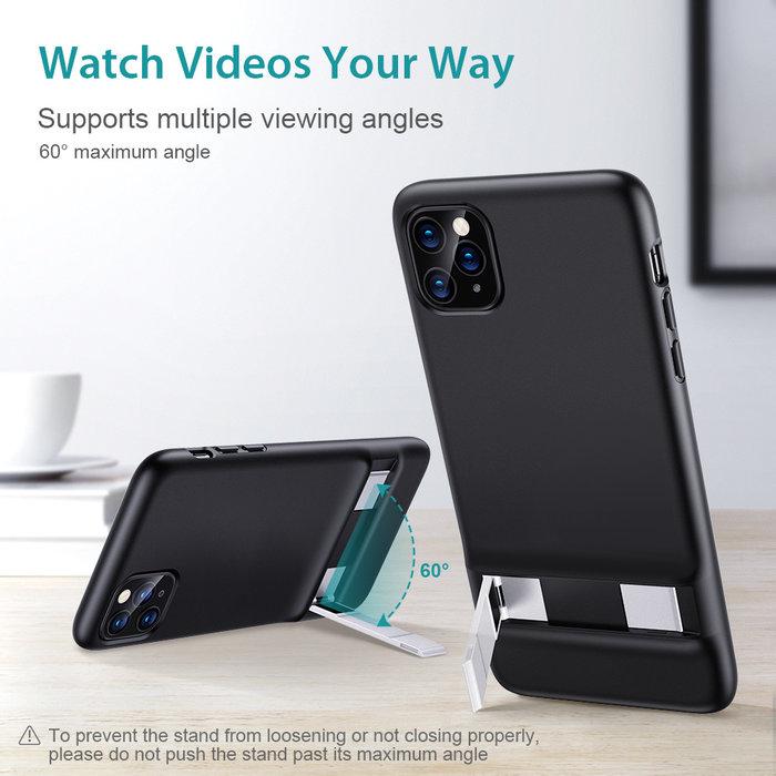 ESR Telefoonhoesje - Apple iPhone 11 Pro Max - Air Shield Boost - Zwart & met standaard