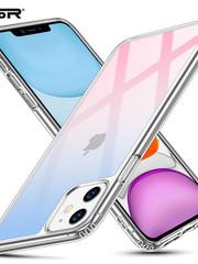 ESR Telefoonhoesje - Apple iPhone 11 - Ice Shield - Roze & Blauw