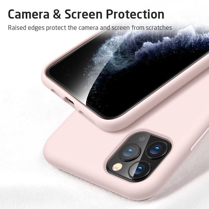 ESR Telefoonhoesje - Apple iPhone 11 Pro - Yippee silicone - Roze