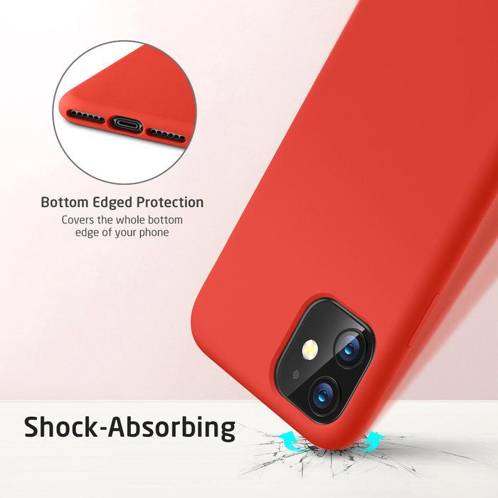 ESR telefoonhoesje - Apple iPhone 11 - Yippee siliconen - Rood