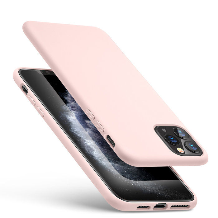 ESR Telefoonhoesje - Apple iPhone 11 Pro MAX - Yippee silicone - Roze