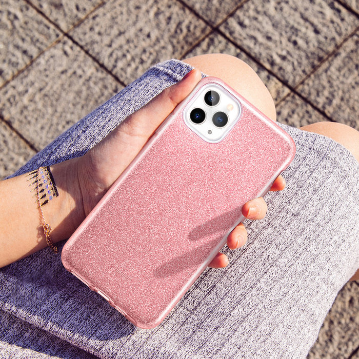 ESR telefoonhoesje - Apple iPhone 11 Pro - Makeup Glitter - Roze