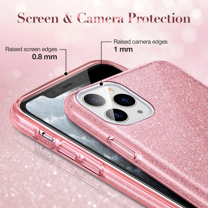 ESR Telefoonhoesje - Apple iPhone 11 Pro Max - Makeup Glitter - Roze