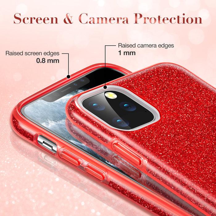 ESR telefoonhoesje - Apple iPhone 11 Pro - Makeup Glitter - Rood