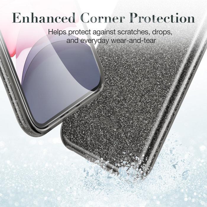 ESR Telefoonhoesje - Apple iPhone 11 - Makeup Glitter - Zwart
