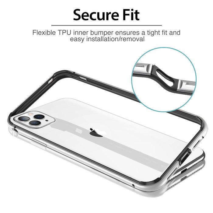ESR Telefoonhoesje - Apple iPhone 11 Pro - Edge Guard – Zilverr